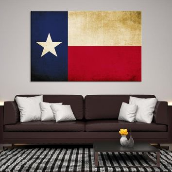 79952 - Texas Flag Wall Art Canvas Print, Texas State Flag Art Canvas Print, Large Wall Art Texas Flag Canvas Print