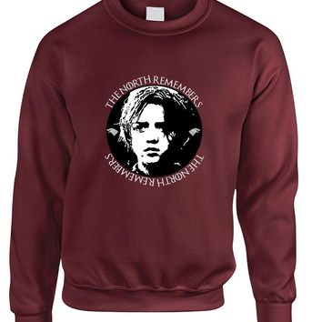 Adult Sweatshirt The North Remembers Cool Hot Top