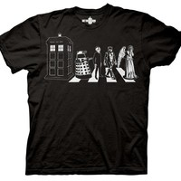 BBC America Shop - Doctor Who: Enemies Crossing the Road T-Shirt