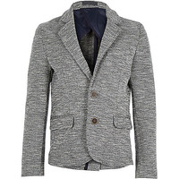 River Island Boys grey neppy jersey blazer