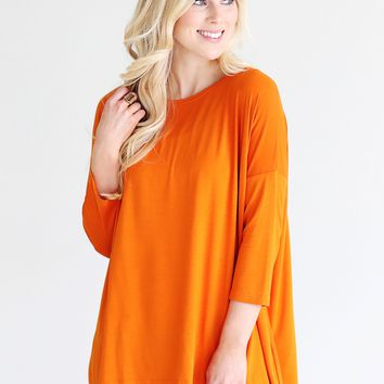 Autumn Maple PIKO 3/4 Sleeve Top