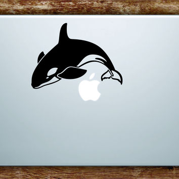 Orca Whale Laptop Decal Sticker Vinyl Art Quote Macbook Apple Decor Ocean Beach Fish Animal