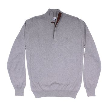 The Hayward 1/4 Zip in Grey by Southern Point Co.