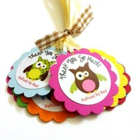 Owl Thank You Tags, Personalized from Adorebynat