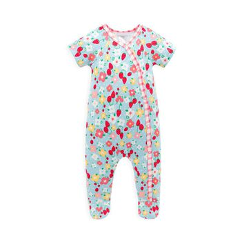 Unisex Baby Clothes Brand Print Floral Baby Rompers Long Sleeves Fleece Infant Coveralls Newborn Boy Girl Clothes Jumpsuits