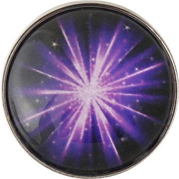 Snap Charm Purple Burst 20mm