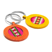 Bright Leather Keychain