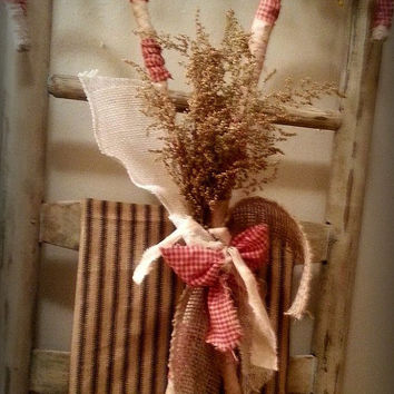 Primitive Candy Cane, Large Primitive Candy Cane, Primitive Candy Canes, Primitive Grungy Candy Cane Arrangement,