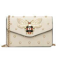 Crystal Bee Clutch