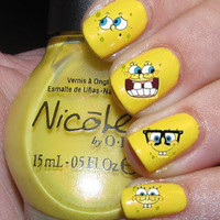 Spongebob Nail Decals