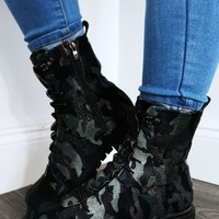 Ready For Combat Boots: Black/Multi