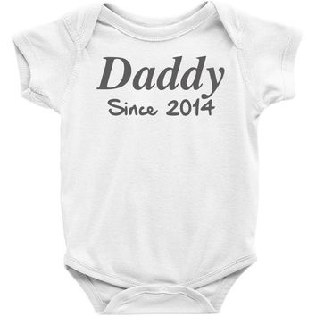 personalised daddy (2) Baby Onesuit