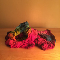 Tie Dye Hair Scrunchies - rayon hair scrunchies, tie dye hair wrap, hair scrunchies, hippie hair wrap
