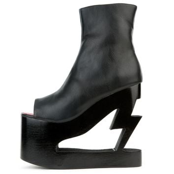 Women's Lightning Crashed Platform Wedge Boots