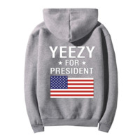 """YEEZY""Fashion loose leisure hooded print sweater Grey"