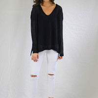 Navy Soft Knit Sweater
