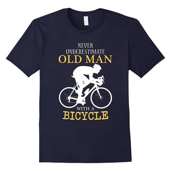 Funny Bike Fathers Day Gift Grandfather With Bicycle T-Shirt