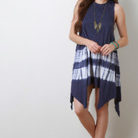 Women's Tie Dye Handkerchief Dress