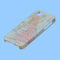 Vintage Map of England - Iphone 5 case from Zazzle.com