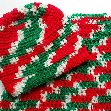 Newborn Christmas Cocoon And Hat Set Red Green White  Infant Girl Bunting With Beanie Baby Boy Sleep Sack And  Holiday  Cap Winter Beanie