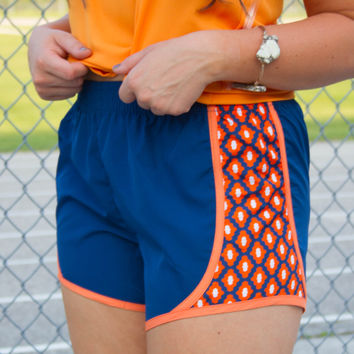 Gator Game Day Running Shorts - Blue/Orange