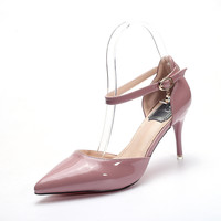 Pointed Toe High Heel Summer Strappy Stylish Low-cut Shoes [10788525071]