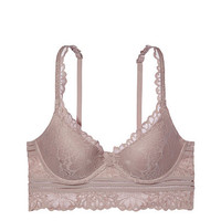 Floral Lace Lightly Lined Bralette - PINK - Victoria's Secret