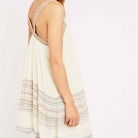 Ecote Bay Bay Frock Dress in Cream - Urban Outfitters