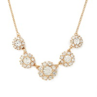 Floral Rhinestone Pendant Necklace | Forever 21 - 1000168489