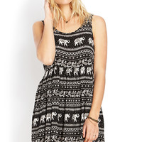 Elephant Frenzy Babydoll Dress