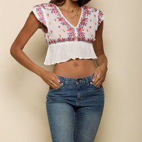 Mariah Peplum Crop Top