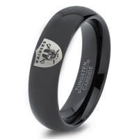 Oakland Raiders Ring Mens Fanatic NFL Sports Football Boys Girls Womens NFL Jewelry Fathers Day Gift Tungsten Carbide 088