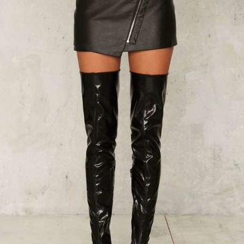 Anarchy Vegan Leather Mini Skirt