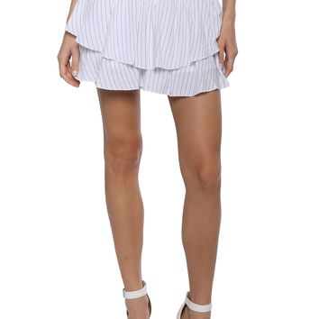 Blue Life Pinstripe Perfect Skort