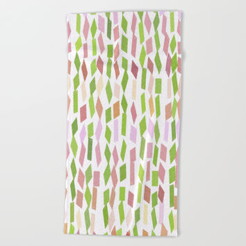 Cute Patch Art Pattern Beach Towel by kasseggs