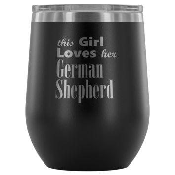 German Shepherd - 12oz Stemless Wine Tumbler