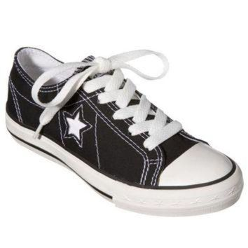 LMFUG7 Kid's Converse? One Star? Canvas Oxford Shoe - Black