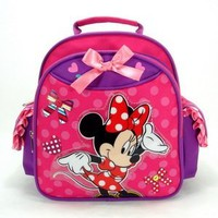 Walt Disney Minnie Mouse Toddler Backpack and Mickey Bifold Wallet Set, Backpack Size Approximately 12""