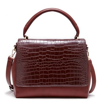 Structured Croc Satchel