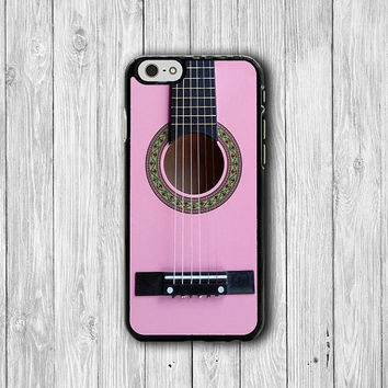 iPhone 6 Case Pink Folk Acoustic Guitar for Musician Phone 6 Plus, iPhone 5S Art iPhone 5 Case, iPhone 5C Case, iPhone 4S, iPhone 4 Handmade