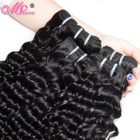 Peruvian Deep Curly Human Hair Weave Bundles 100g 1piece Natural Color Non Remy Hair 100% Human Hair Weft MSHere Hair Products