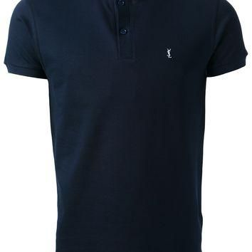 Saint Laurent Stand-Up Collar Polo Shirt
