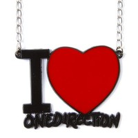 I Heart One Direction Pendant Necklace | Claire's