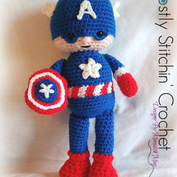 Captain America Insprired;CROCHET PATTERN PDF