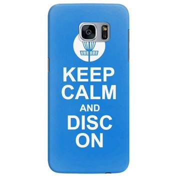keep calm and disc golf on target frisbee basket Samsung Galaxy S7 Edge