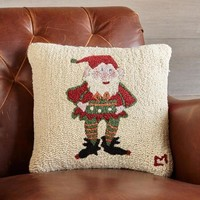 Mr. Elf Hooked Pillow