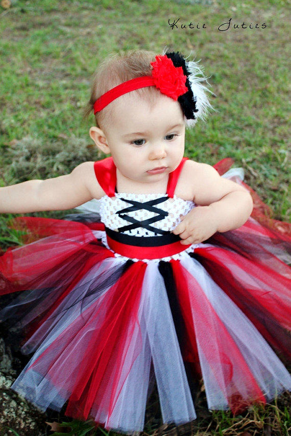 The Pirate Tutu Dress Amp Headband From Kutietuties On Etsy