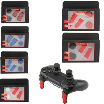 New design PS4 Analog thumbtick Grips Enhanced Thumb Stick Caps L2 R2 Trigger Extended Button for Playstation 4 PS 4 Controller