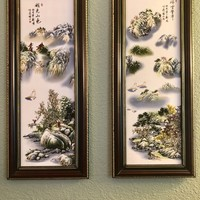 """""""Mountain Haven"""" Porcelain Wall Art Paintings"""