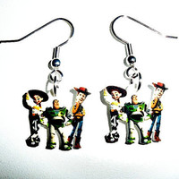 Disney Toy Story Earrings  Buzz Woody and by ThisAndThatCharm